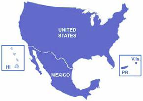 Map Of The Us And Mexico - Us mexico map