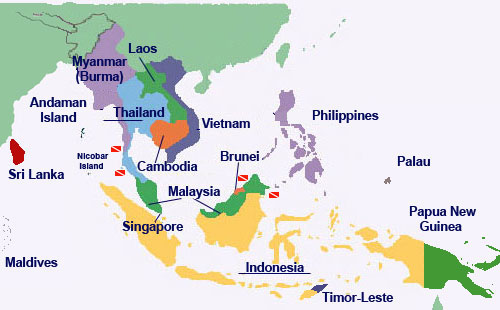 hist on emaze – South and East Asia Political Map