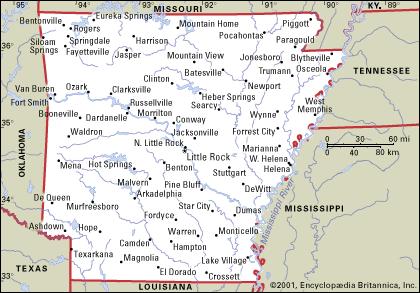 Arkansas On Emaze - Arkansas map with cities