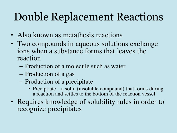 Write my metathesis reaction example
