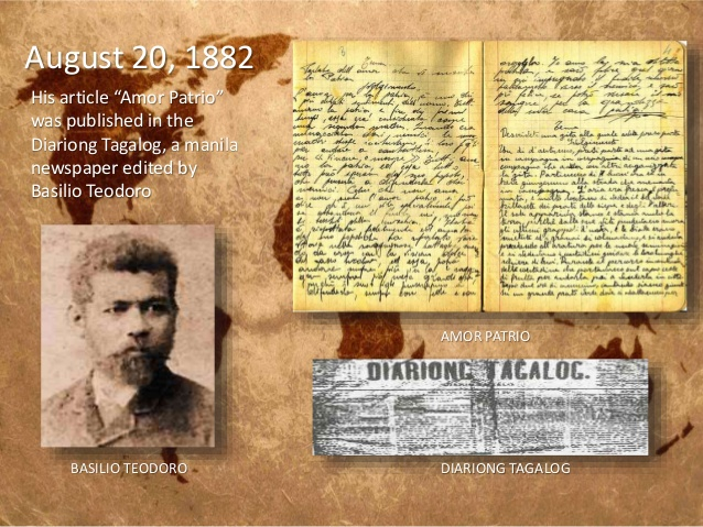 message in amor patrio by rizal