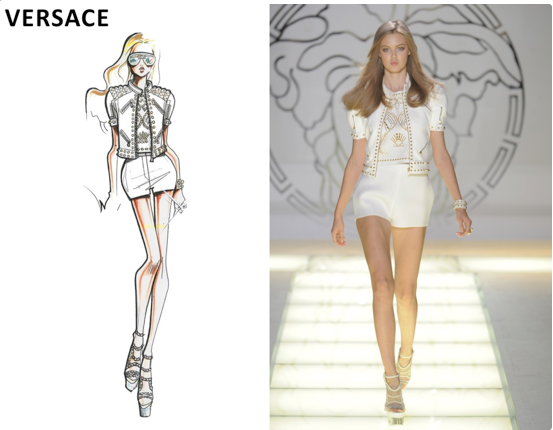 Versace Sketches 2013 Images & Pictures - Becuo