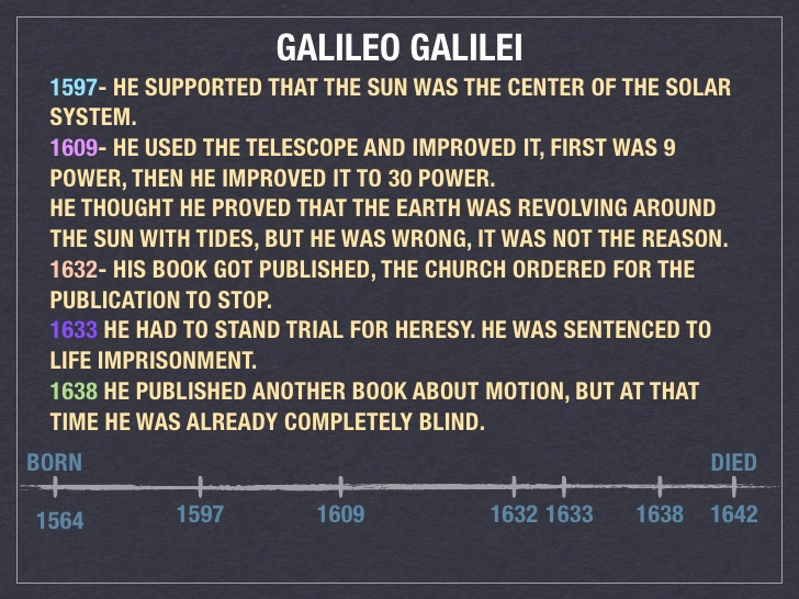 What Was an Accomplishment of Galileo Galilei?