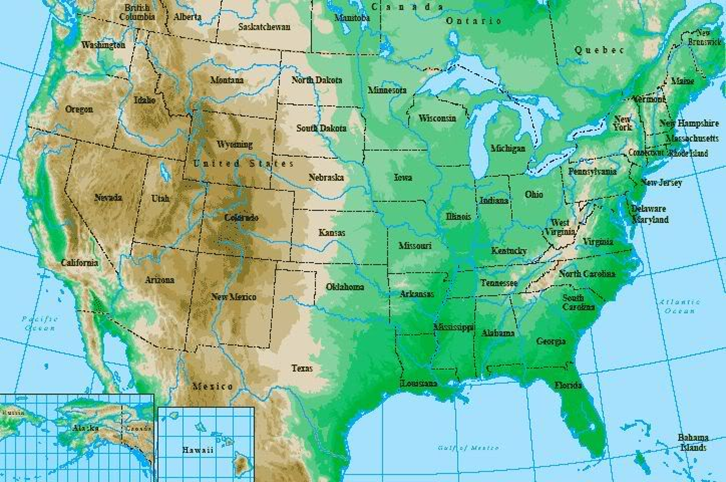 How And Why Does USA Have Such A Va - Mountain map of us