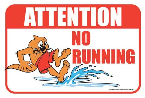 No Running Sign In Water Water Safety on emaze