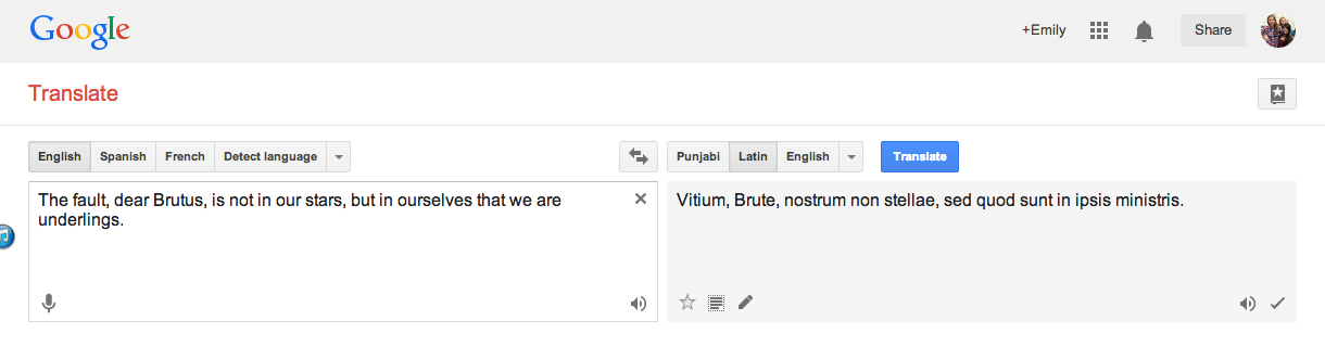 TOK LOST IN TRANSLATION