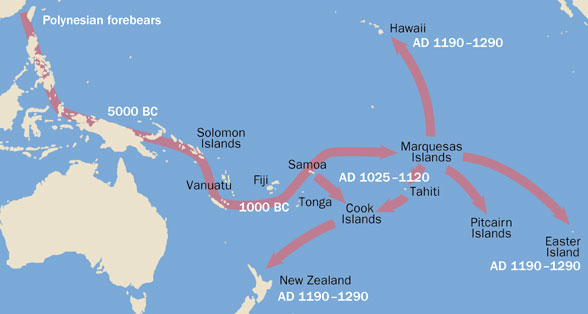 Vikings V Polynesians - Map of us a hawaii and easter island