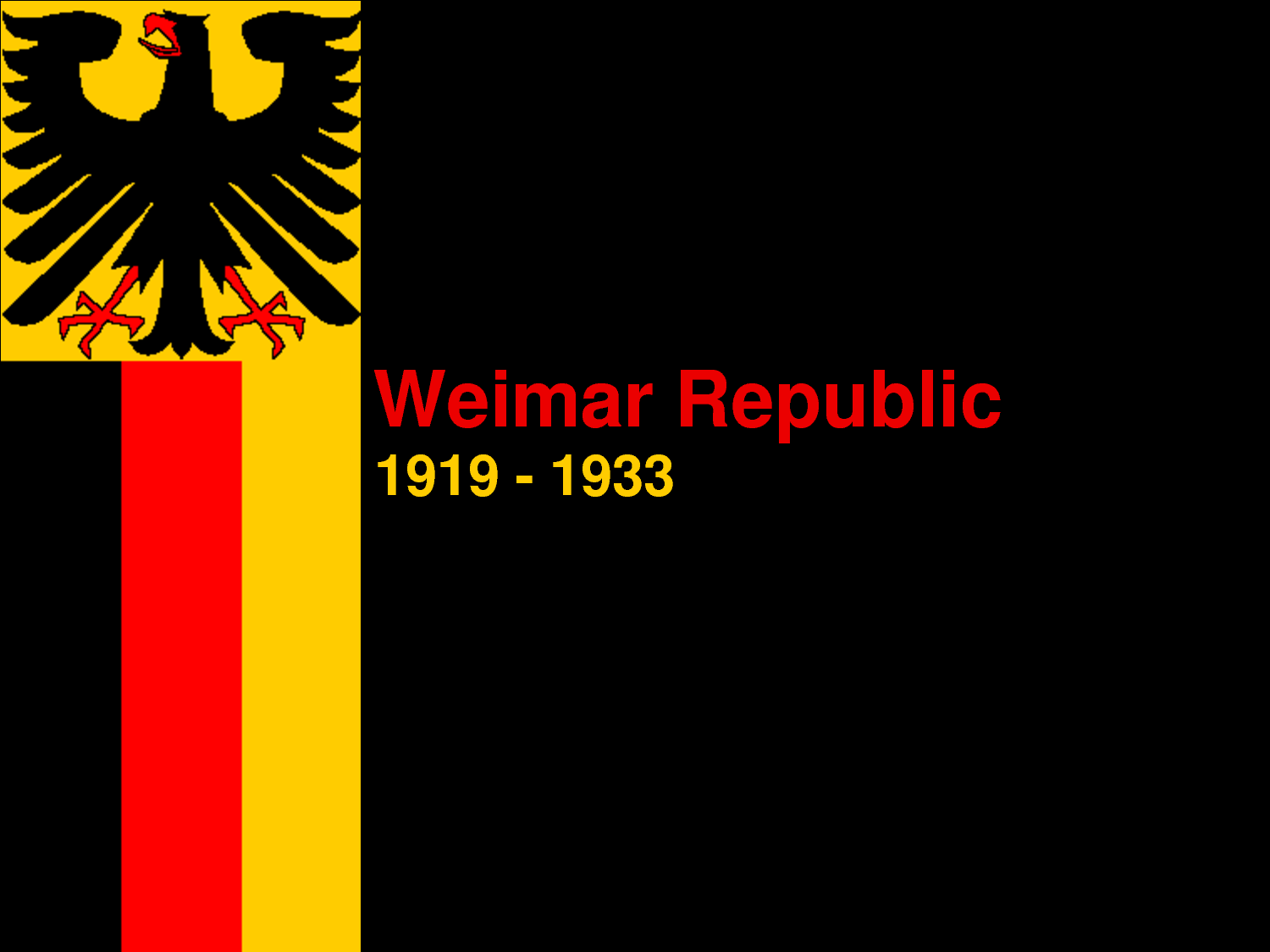 an overview of the weimar republic