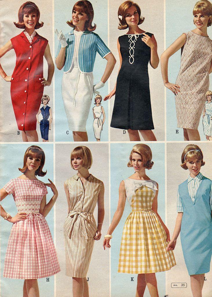 Мода 1960 х годов платья