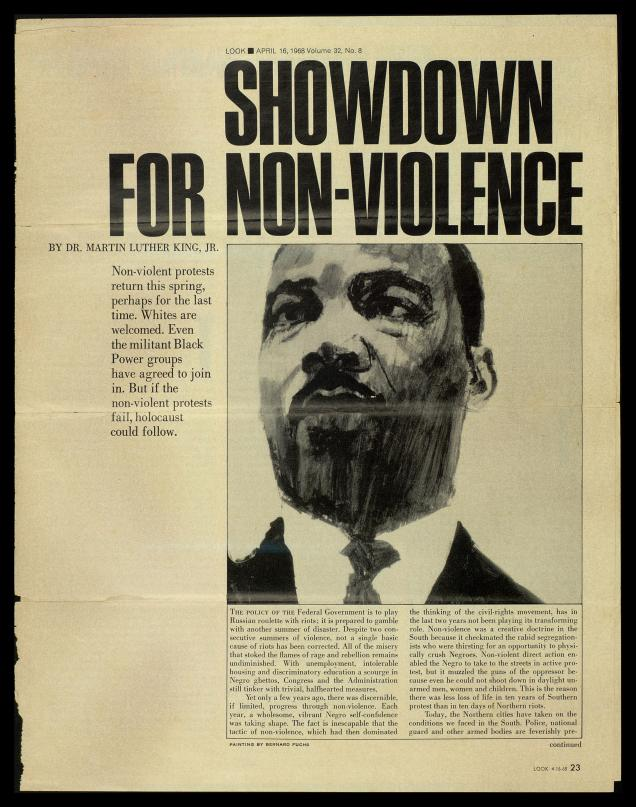 the meaning on non violent owner in the case of martin luther king jr