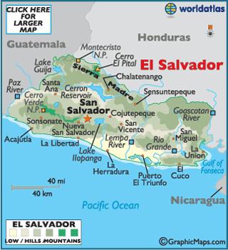 El Salvador On Emaze - Political map el salvador