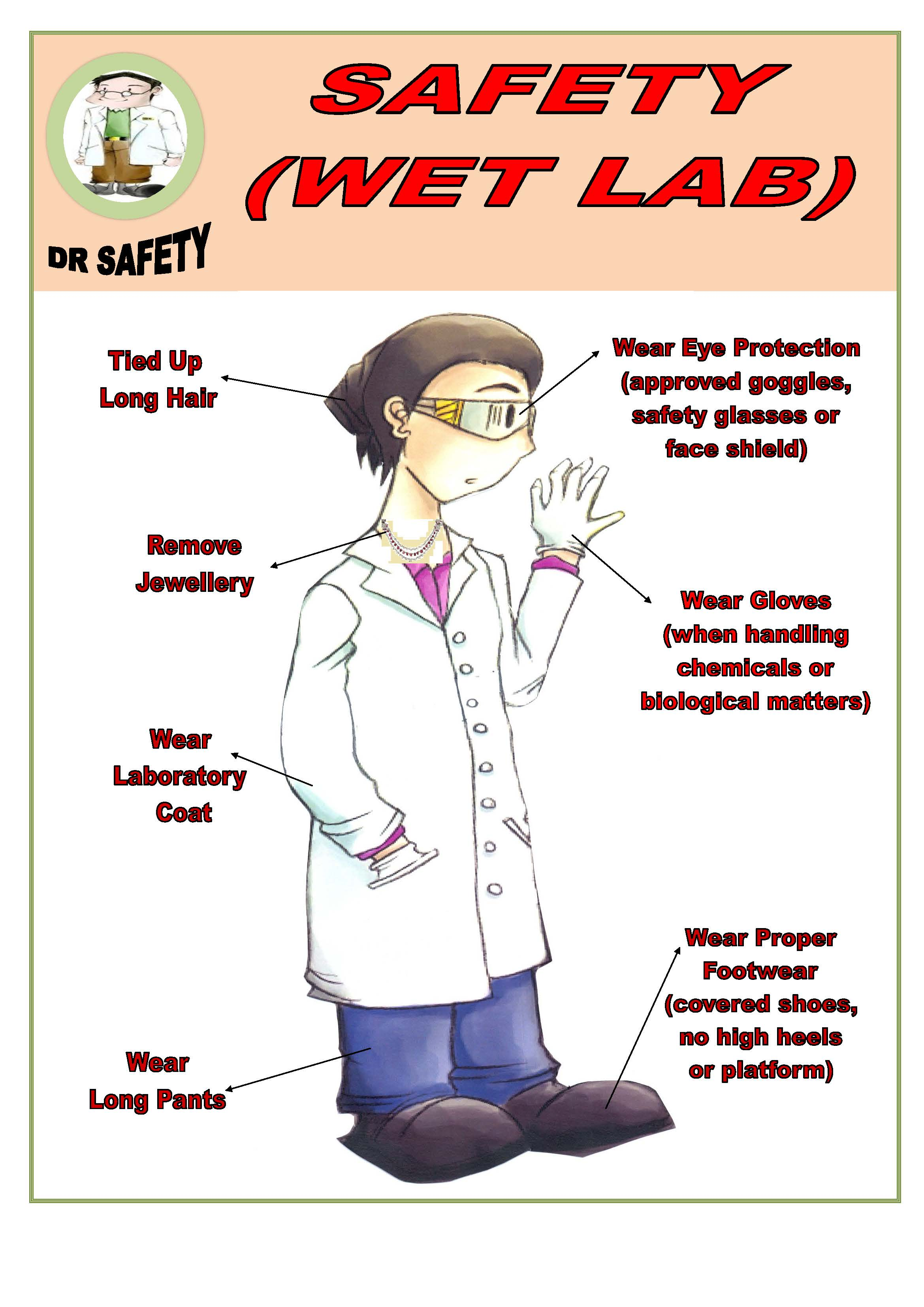 Lab safety goggles poster