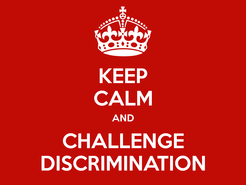 explain how to challenge discrimination And discrimination • time to challenge - taking individual test cases of discrimination through the courts now is the time to end the stigma and.