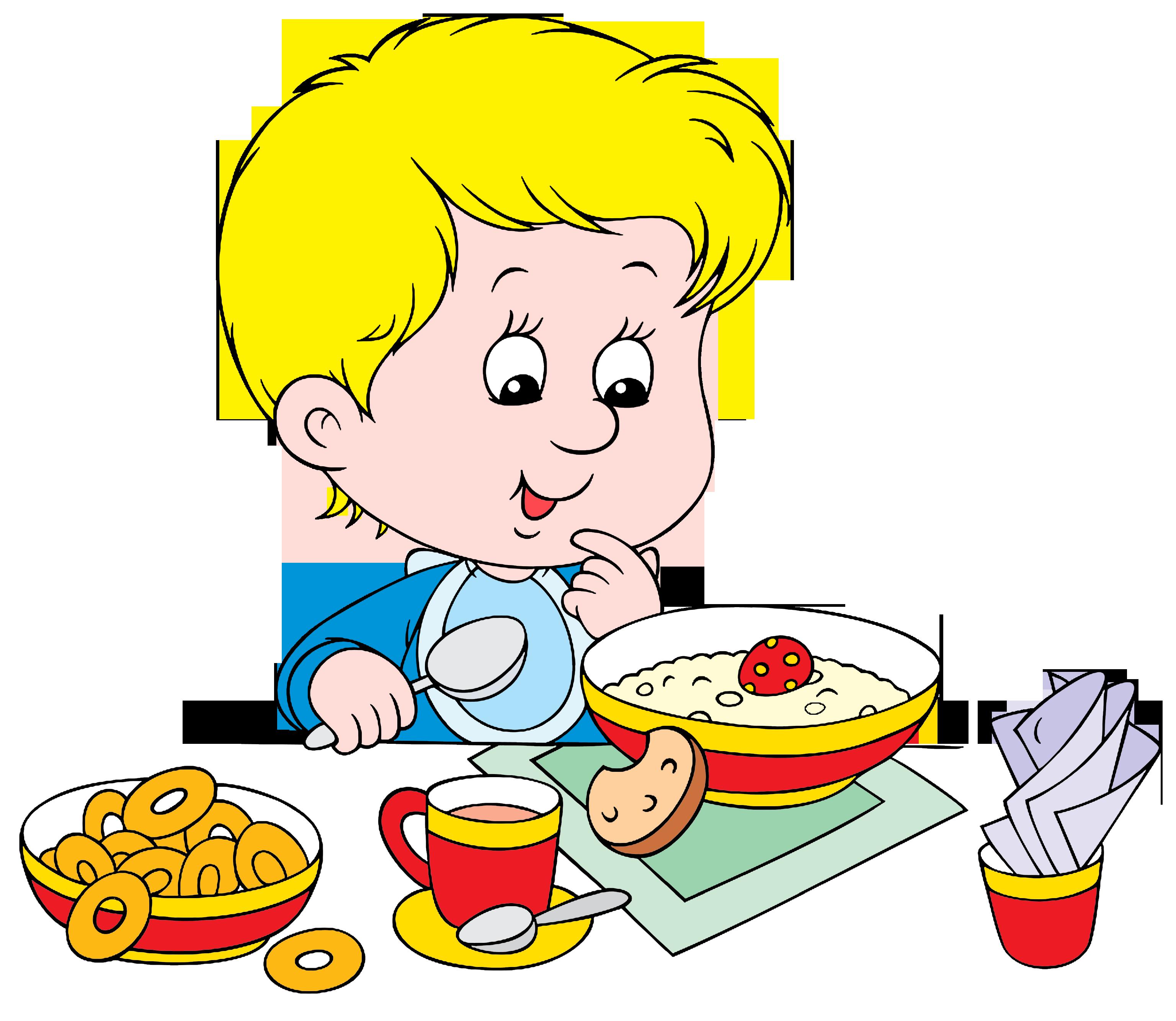 Рисунки ребенок ест