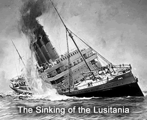 discuss the impact of the lusitania Rms lusitania rests awkwardly nearly 300 feet down on the sea bed some 112 miles south west of the old head of kinsale, a once-proud queen of the atlantic, now draped in cobweb-like fishing nets snagged on her wrecked carcass [1] from the underwater silence of her cold tomb, her secrets have yet to be.