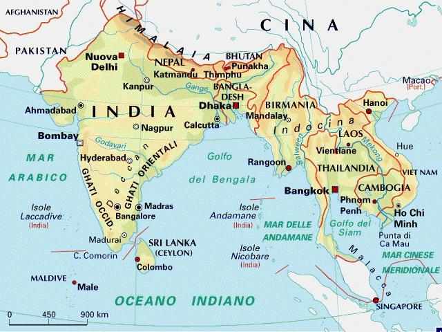 Cartina India Nepal.India