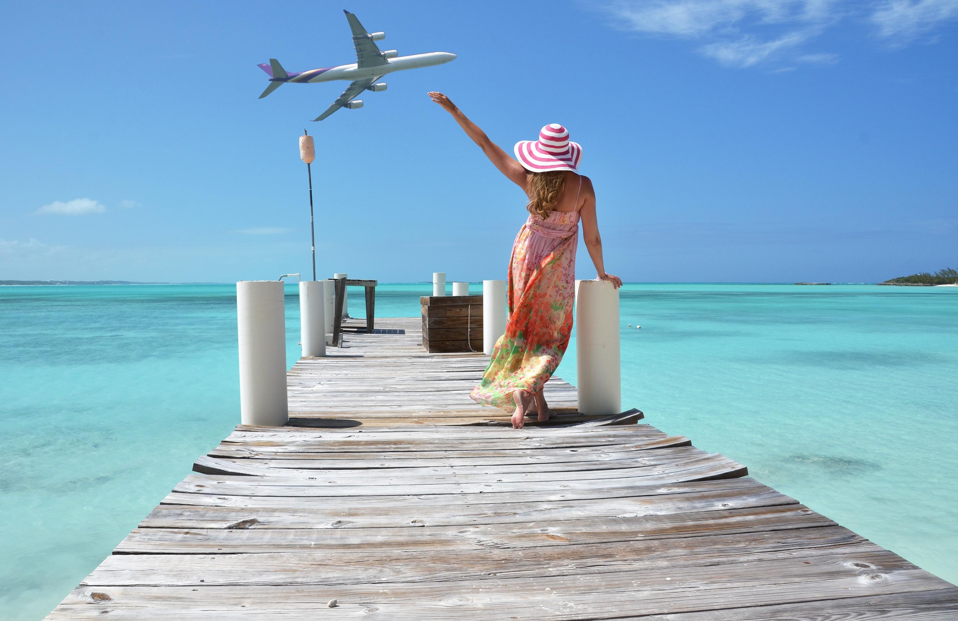 Море-самолет девушка фото