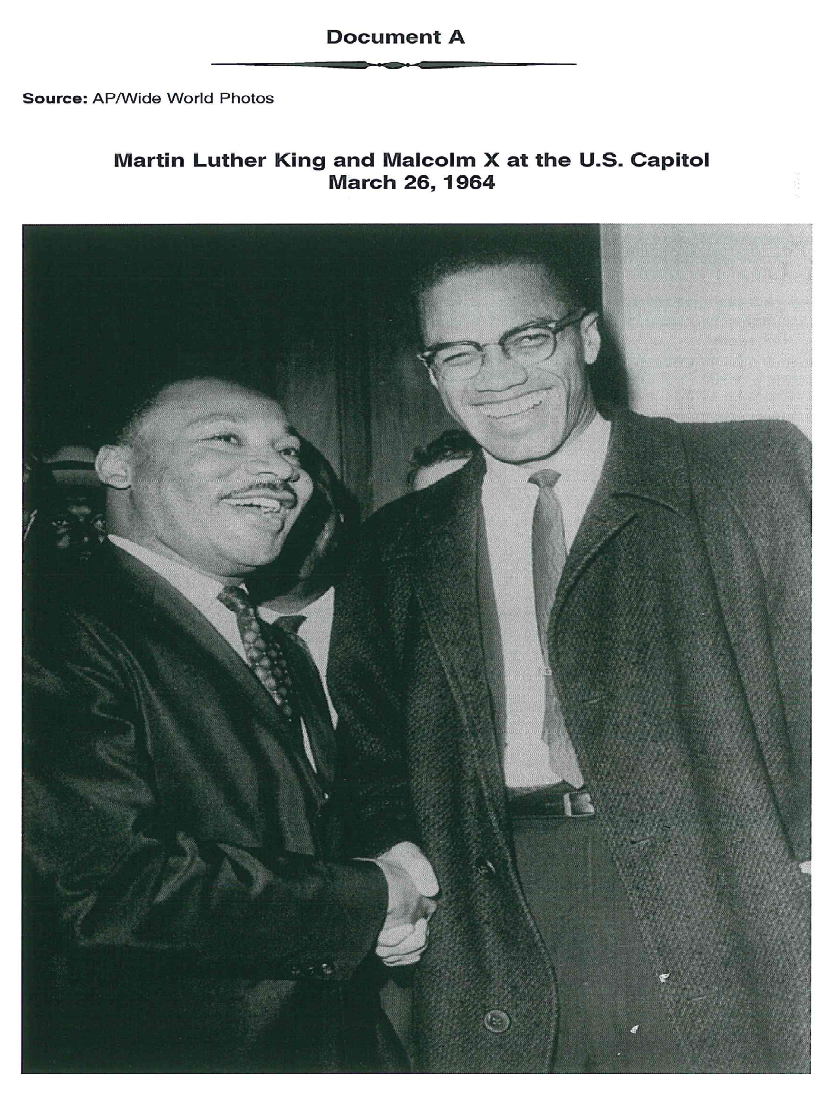 an analysis of martin luther kings and malcolm xs approach
