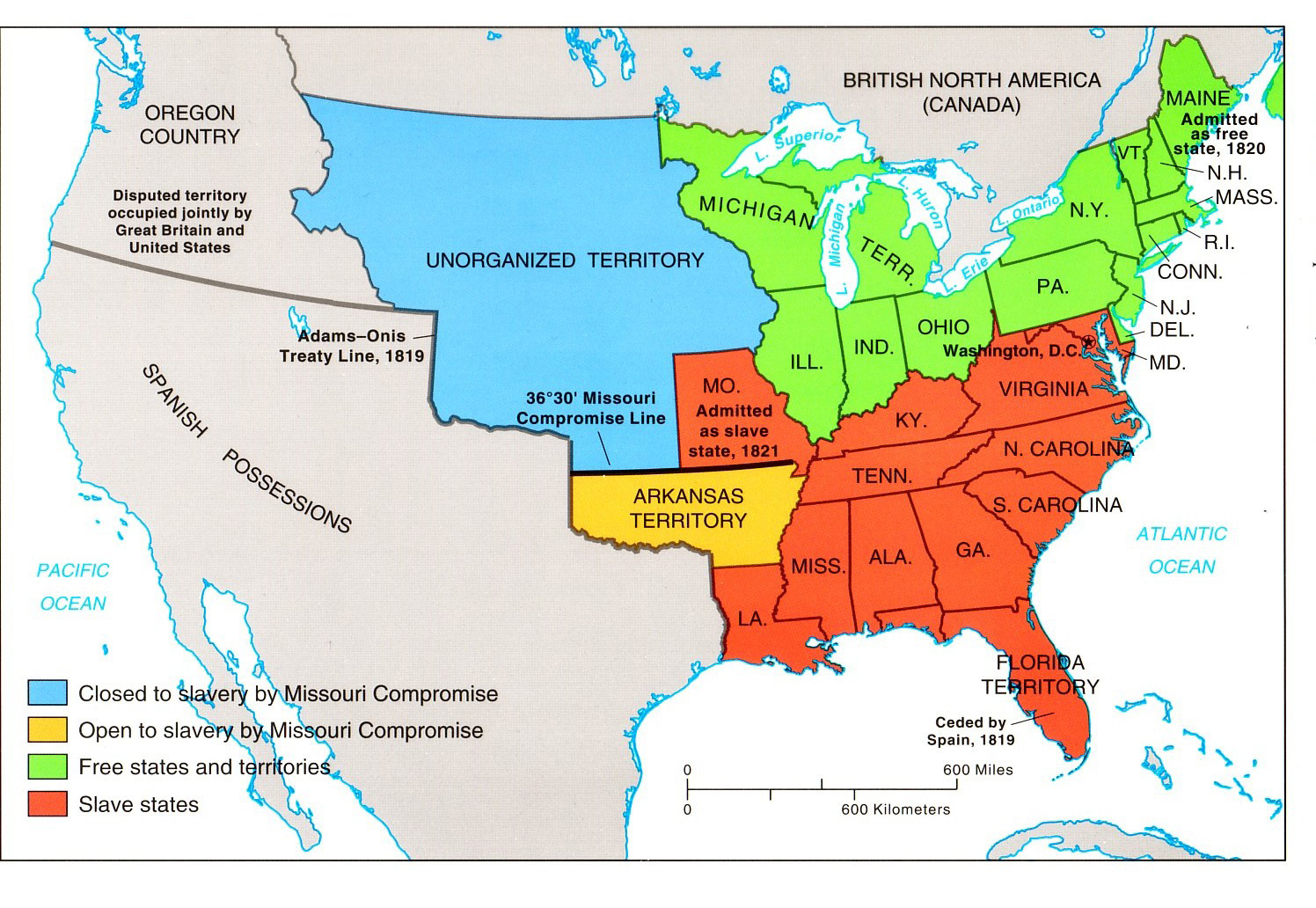 FileUnited States Central Map To Png Slave - Blank us map 1820