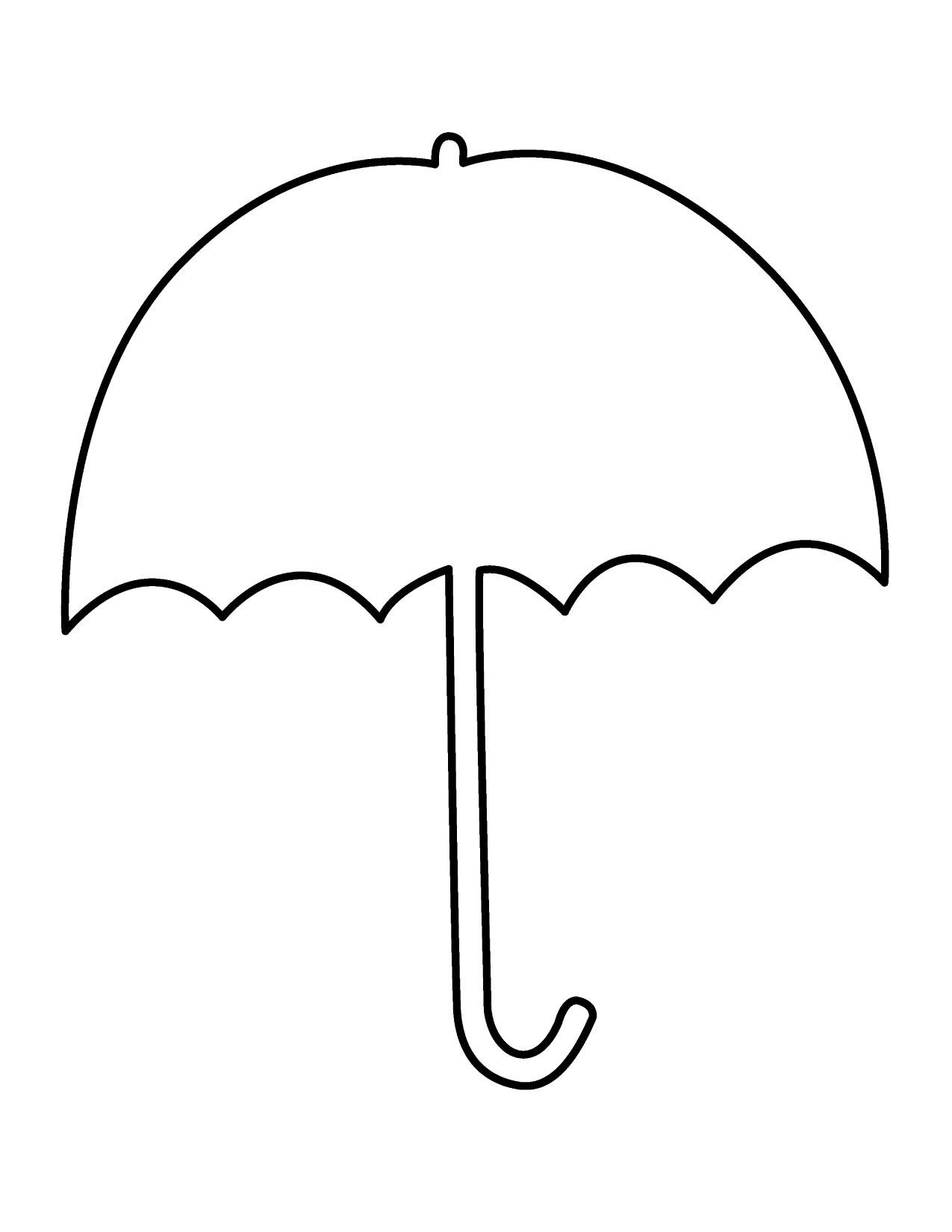 Free printable coloring pages of umbrellas - Project Based Learning