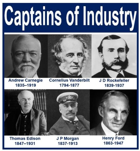 "the captains of industry during american These ""captains of industry"" cared organized labor did not fare nearly as well as big business during the gilded age many native american tribes."
