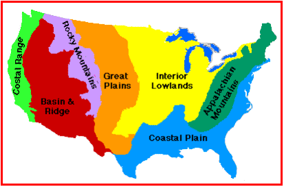 Th Grade US Geography - Mountain ranges in the us