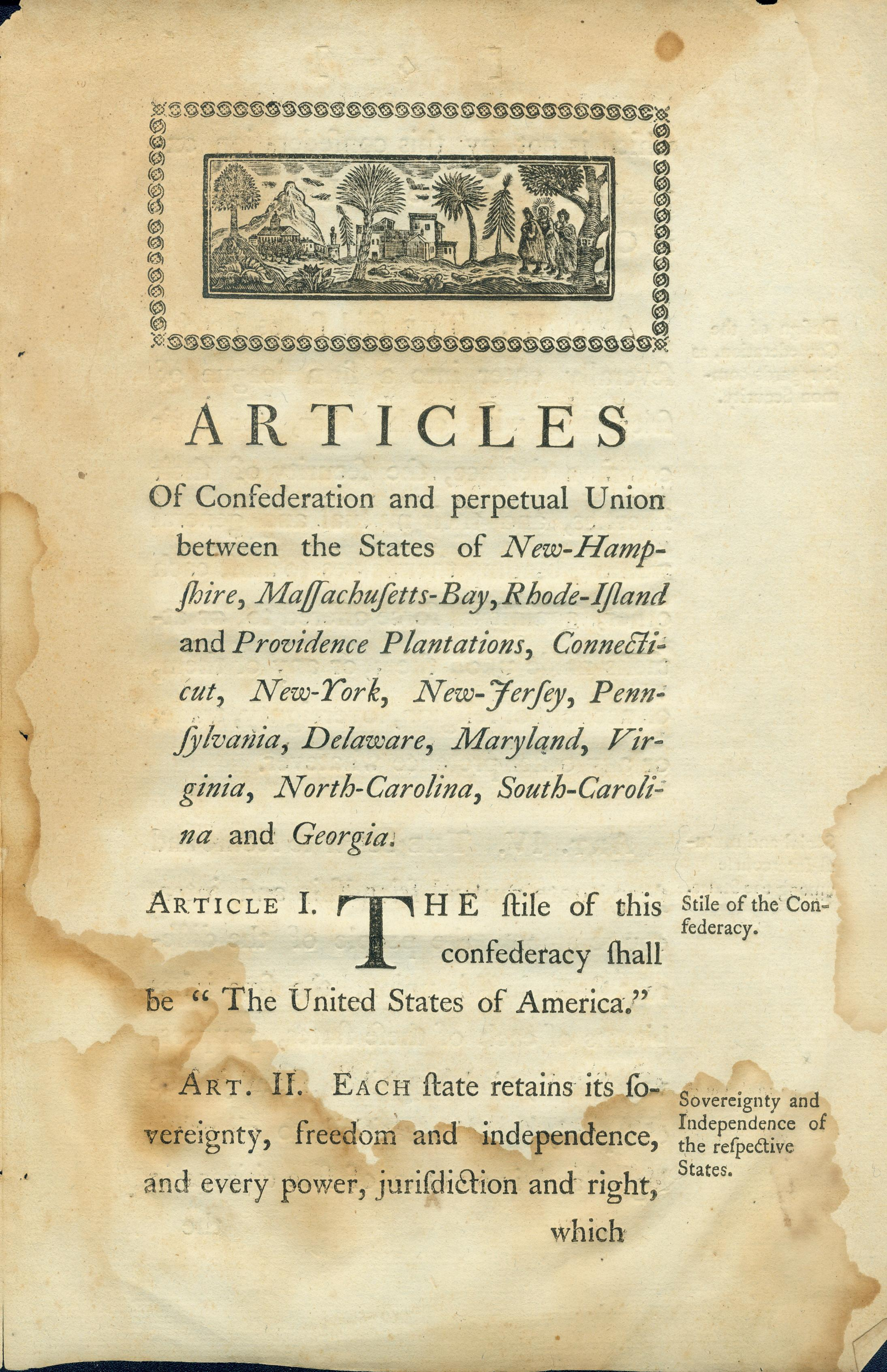 the articles of confederation and the us Watch video  the articles of confederation was the first written constitution of the united states stemming from wartime urgency, its progress was slowed by fears of central authority and extensive land.