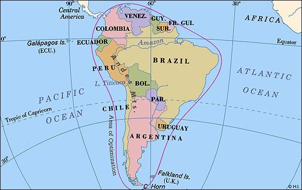 Social Studies Presentation - Map argentina neighboring countries