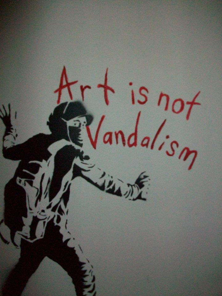 essay about vandalism Graffiti is just another way to express yourself as being a form of a artist so what i'm trying t.