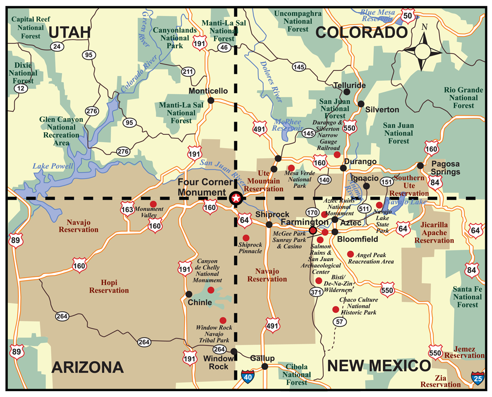 Important Places In New Mexico  Group Luis Camacho Dina Burbano - Utah on a map of the usa