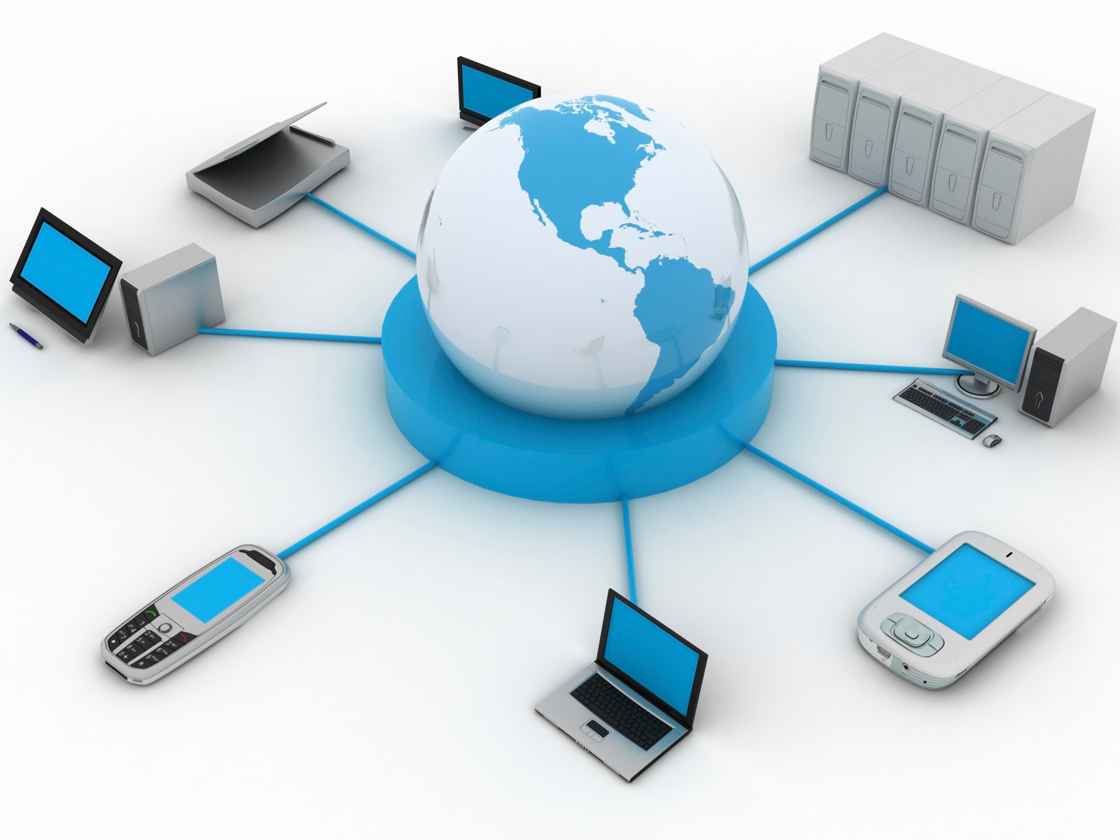 wired and wireless data communication infrastructure