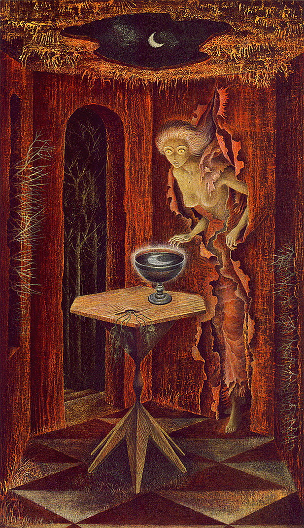 "Phenomenon  by Remedios Varo  14/""  Paper Print Repro"