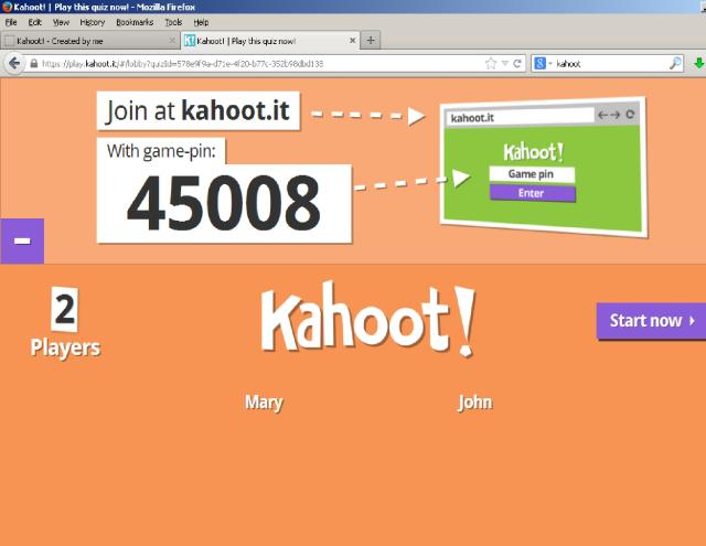 kahoot game pin