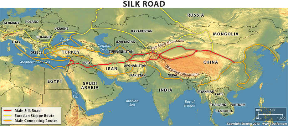 Major Trading Cities on Silk Road The Silk Road Was a Major