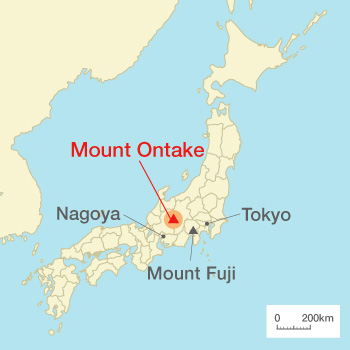 Image result for mt ontake map