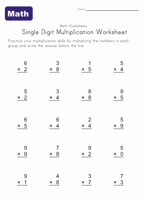 Multiplication Timed Tests Worksheets minute math worksheets – Multiplication Frenzy Worksheet