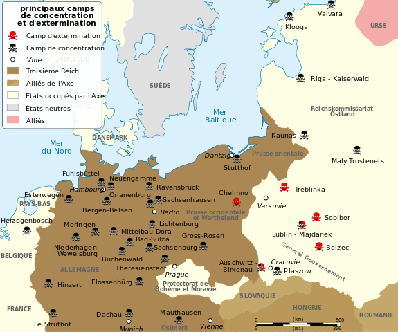 Ravensbruck - Germany map of concentration camps