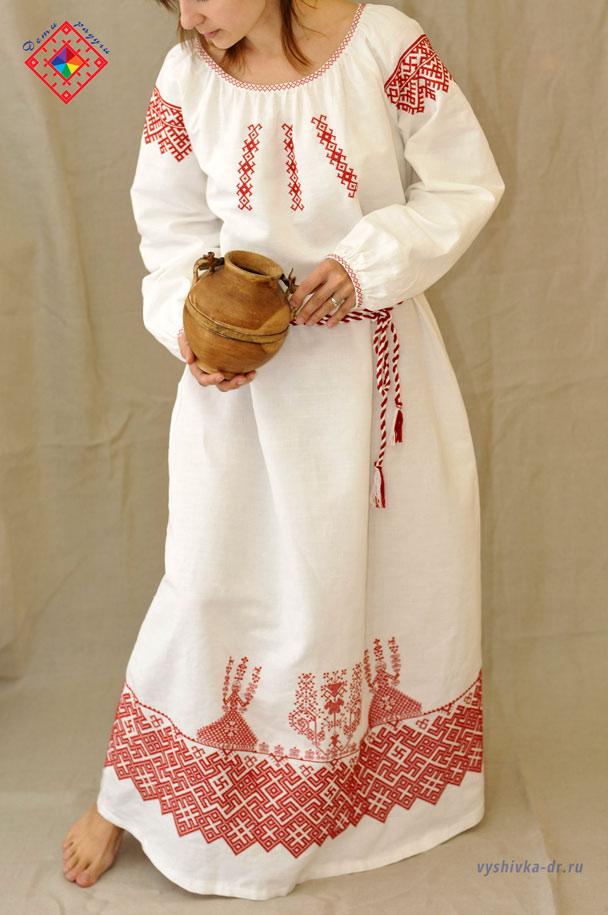 Женская славянская рубаха своими руками 12