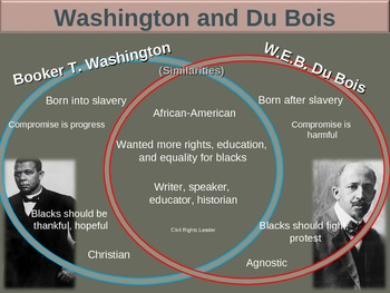 Booker t washington and w e b dubois essay
