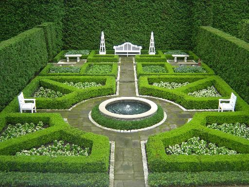 French formal garden for Garden design georgian house