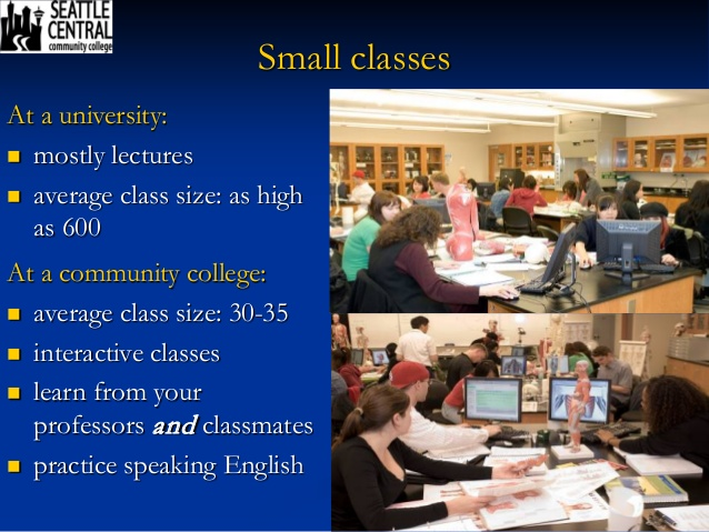 community colleges vs college universites compare