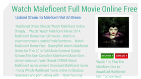 Izy Watch Maleficent Full Movie Online Free Streaming