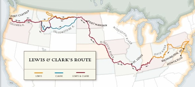 image regarding Lewis and Clark Printable Map identify lewis and clark through heaven upon emaze