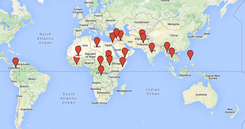 Child soldiers map of the countries where child soldiers are prevalent gumiabroncs Images