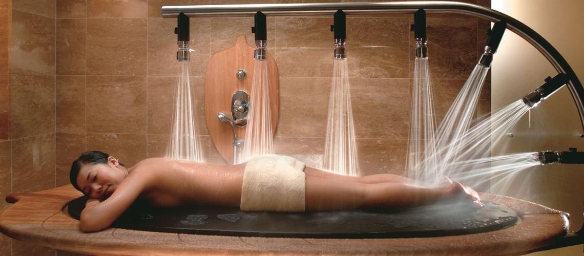 ducha masaje desprotegido