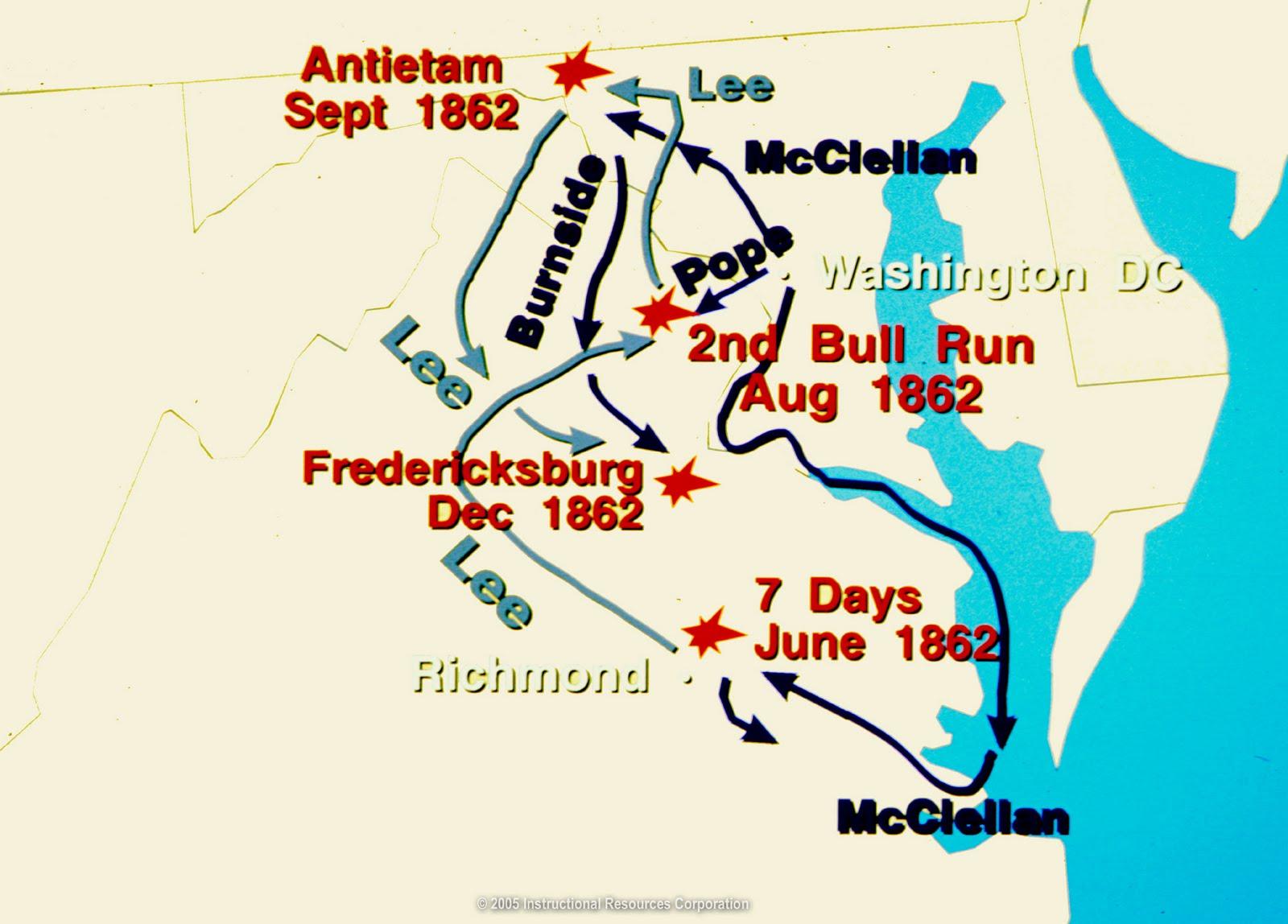 Civil War Map Of Us Globalinterco - Us civil war battle map