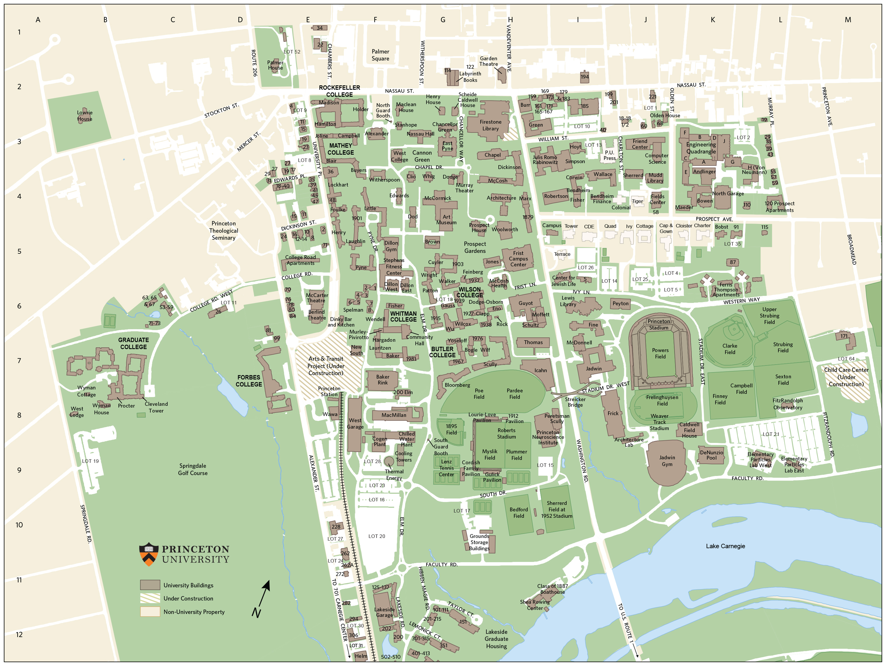 Princeton University Campus Map | Adriftskateshop