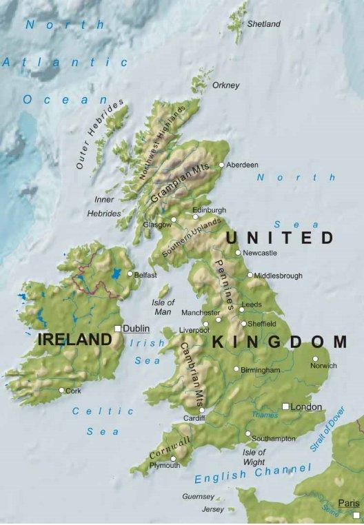Cartina Geografica Inghilterra E Scozia.Presentation Name