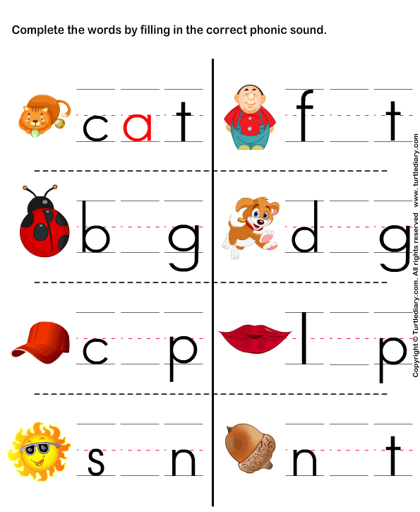 Printables Free Phonic Worksheets phonics for kindergarten worksheets and phonic free phonics