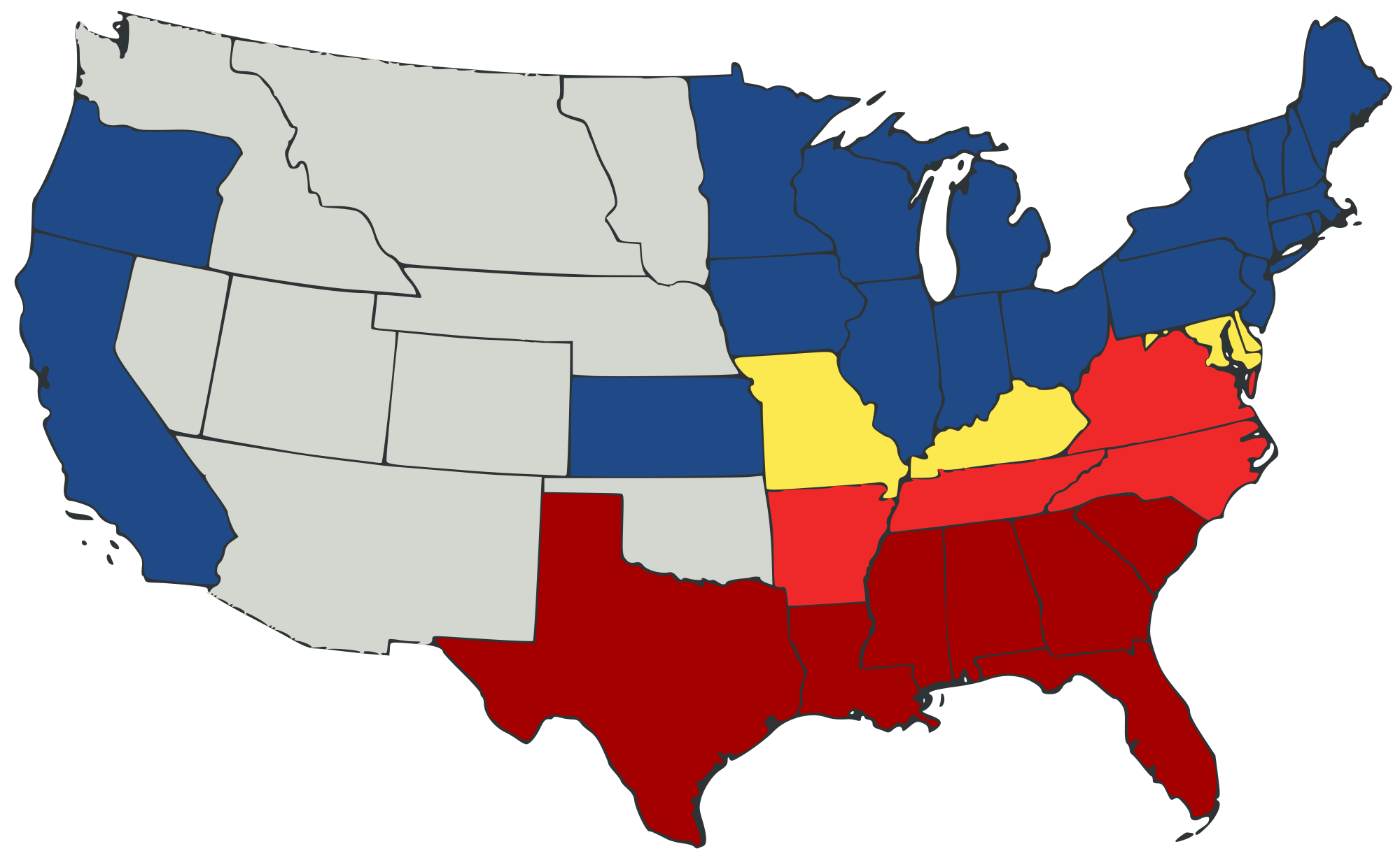 Reference Map Of Kentucky USA Nations Online Project Animated - Us south border map